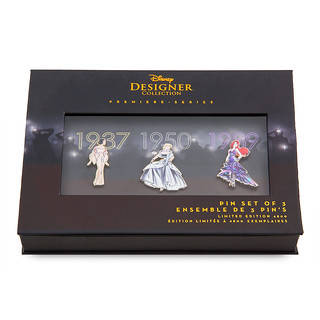 2018 Disney Princess Pin Set - Disney Designer Collection - Set One - Limited Edition - Premiere Series - US ShopDisney - Product Image #2