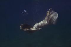 Amphitrite's dream II (foteinizaglara) Tags: underwaterphotography underwater blue model mermaid greece mythology