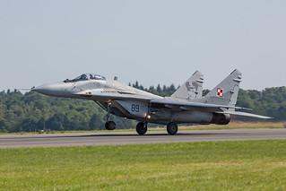 89, Mikoyan-Gurewitsch MiG-29A Polish Air Force @ Florennes EBFS