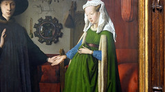 Jan Van Eyck, detail with woman, The Arnolfini Portrait