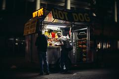 gourmet (Yutaka Seki) Tags: hotdog foodcart nightphotography streetphotography menu gourmet wiener sausage ketchup mustard relish vancouverbc
