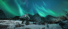 Battlefield 5 (screenreel) Tags: battlefield5 worldwar mountain snow sky clouds lights glow mountainside action combat air house night cold white graphics frostbyte engine ea borealis dark moon stars snowflakes landscape tree forest rock