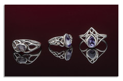 The power of three dark Blue John Celtic Ring (johnhjic) Tags: johnhjic macro nikon d850 bluejohn blue john flash studio silver sterling broncolor siros reflection red whie hand made sellors cwsellors derbyshire uk england shaped carved styel stylish elegant jewellery ring rings polished handmade