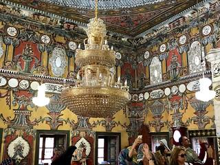 Macedonia (Kalkandelen) Magnificient interior of Painted Mosque
