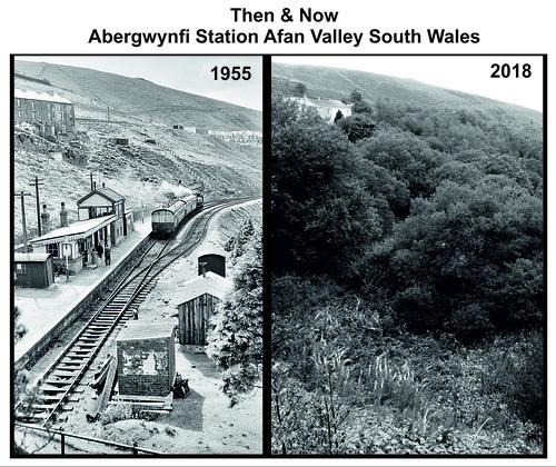 5 Duffryn Rhondda. Blaengwynfy Cymmer Afan Railway Station Photo
