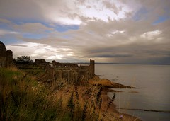 St Andrews Castle Ruins (Clare-White) Tags: clouds standrews beach scotland drama sky grass lookingdown castle ruin outdoors water scape waterscape atmosphere nature fife mpt656 matchpointwinner