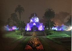 Night Lights (skipmoore) Tags: goldengatepark conservatoryofflowers lightshow