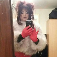 TG night (Sissy kaylah) Tags: tv tg trans transvestite tranny heavymakeup fur rubber crossdresser crossdressing tgirl tgurl crossdress xdresser