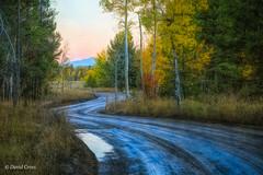 Country Roads (buffdawgus) Tags: autumn landscape moosewilsonroad rockymountains canonef24105mmf4lisusm dirtroad grandtetonnationalpark topazstudio lightroom6 fall canon5dmarkiii wyoming