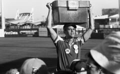 MCU Park (neilsonabeel) Tags: nikonfe2 nikon film analogue coneyisland brooklyn newyorkcity blackandwhite cyclones brooklyncyclones stadium 105mm nikkor baseball