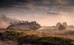 amphibiousvehicle (augustynbatko) Tags: rally bornesulinowo military summer august sky clouds grass people sunset landscape field amphibiousvehicle