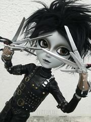 sharp objects (evil'sdolls) Tags: pullip doll taeyang timburton edward scissorhands dolls black goth portrait