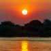Il tramonto sul fiume...