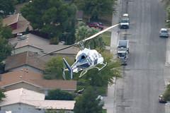 N402MA, Las Vegas, October 24th 2004 (Southsea_Matt) Tags: n402ma mercyair usa nevada lasvegas october 2004 autumn canon 10d transport aeroplane aircraft helicopter bell222 unitedstatesofamerica