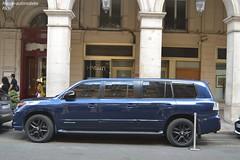 Lexus LX570 Supercharger Limousine du Qatar (Monde-Auto Passion Photos) Tags: vehicule voiture auto automobile lexus lx570 limousine bleu blue luxe classe rare rareté long imposant france paris qatar