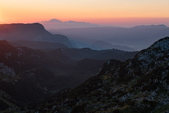 View from Bogatinsko sedlo (happy.apple) Tags: ukanc radovljica slovenia si dawn morning mist mountains julijskealpe julianalps slovenija geotagged