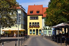 streets of Erfurt (JoannaRB2009) Tags: erfurt germany deutschland thuringia city oldtown buildings architecture houses people street summer