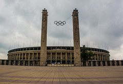 The Olympic Stadium , Berlin (Firthy70) Tags: berlin olympics olympicstadium footballstadium herthaberlin nikon d7100 olympicrings germany clouds sky