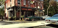 Luncheonette 1 (gpholtz) Tags: diorama miniatures 118 diecast 1967 mercury cougar karmannghia impala