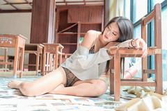 DSC_4411 (錢龍) Tags: 葉嘉 台灣 台中 宜寧中學 外拍 穿環 內衣 酷 女孩 nikon d850