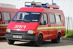 D154 GHP (JKEmergencyPics) Tags: unknown unidentified fire rescue service brigade private 1987 ford transit appliance engine tender brooklands emergency 999 services day show event 2018 d154 ghp d154ghp