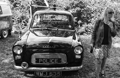 Police Anglia (Dun.can) Tags: eastwell village fete summer blackwhite car classic fordanglia judy police policecar 1960s
