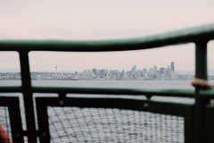 seattle by ferry (just.jo.bailey) Tags: seattle city skyline sea sky ferry fujifilm boat fuji xt1