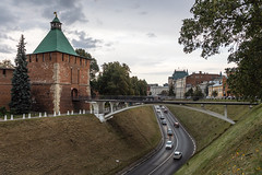 After the rain. (Oleg.A) Tags: ancient landscape russia nature water brick city outdoor materials town clouds exterior summer old orange orthodox nizhnynovgorodkremlin architecture park nizhnynovgorod rain style cloudy landscapes outdoors