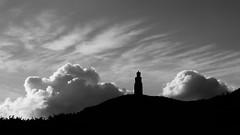 Milner's Tower (pix-4-2-day) Tags: milners tower bradda head clouds sky monochrome blackandwhite black white isleofman schwarzweis monochrom wolken turm dramatisch pix42day