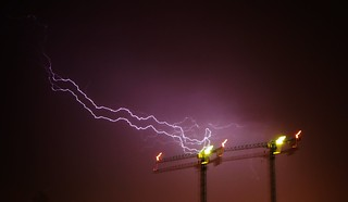 Super blurry lightning