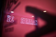 A - or: The three dots (iamunclefester) Tags: münchen munich street night dark poster bill billboard a three lights reflexion colorful pink