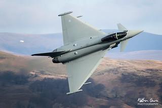 RAF Typhoon FGR.4 ZK374 low level at Ullswater