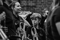 Henry (thatSandygirl) Tags: blackandwhite portrait streetphotography outdoors band musicians students marchingband mvhs mountvernon ohio highschool danemmettfestival summer music