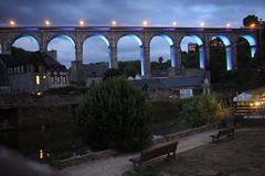(David Locke) Tags: dinan bretagne bridge pont night nightscape architecture