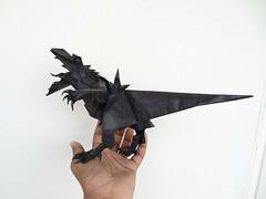 Rawwwr! (Rohit KO) Tags: origami hj rex indominus papercraft double tissue dinosaur tanteidan jason ku rohit ko mariano zavala