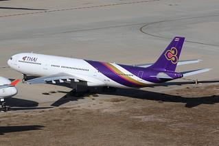 HS-TEK, A330-300, Thai Airways, San Bernardino