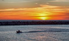Sunset in the Netherlands (zilverbat.) Tags: zilverbat sunset sunlight image scheveningen scenery scenics natuur nature bild availablelight northsea bay zeewater dijk pier havenhoofd zuidelijk coastline coast outdoor ngc