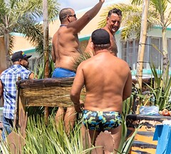Speedos (LarryJay99 ) Tags: pridefest2018 2018 lakeworth florida festival parade men male man guy guys dude dudes speedo butt buttsinclothes studly manly handsome backs napes neacks facialhair goatee profile shirtless peeking peekingpits