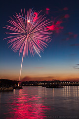 Rocket's Red Glare (marko138) Tags: harrisburg bridge fireworks longexposure night slowshutter water kipona thebluehour
