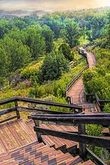Climbing Down  to The Horizon! (jackalope22) Tags: pompeys pillar steps perspective vanishing point lewi clark