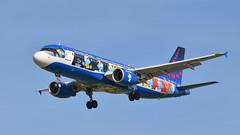 brussels airlines OO-SND (aminekaytoni) Tags: smurf brussels airlines airplane landen landing cartoon boeing 737 800 airbus a320 oosnd smurfen aerosmurf
