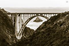 Bixby Bridge 2 (lycheng99) Tags: bixbybridge bixby bridges bridge california californiacoast pacificcoast pacificocean island valley sepia monochrome landscape nature ocean