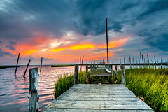 Fishing Ramp (ashwaters77) Tags: dock ramp abandoned old fishing nature sunset crimson landscape bay marshland swamp travel