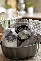 Basket Gifts : Bundt Pan Gift Idea and Printable Tag – This gift has a bundt cake pan, dishtowe… (giftsmaps.com) Tags: gifts