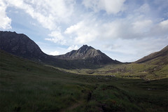 sco11 (Riverman___) Tags: scotland mountaineering arran corbett chir mhor goatfell climbing scrambling island mountain sky cloud rock