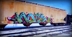 (timetomakethepasta) Tags: noise fyc dfs freight train graffiti art grainer hopper jigl