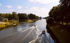 Sonntags in Meppen (AstridSusann) Tags: höltingmühle meppen boote wasser sonntag emsland dortmundemskanal hase