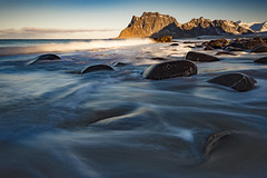 Utakleiv flow (Lukasz Lukomski) Tags: beach lofoten norway norge norwegia longexposure landscape coast lukaszlukomski nikond7200 sigma1020 rocks mountains sunrise