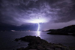 Big lighting in La Spezia (vezzosilc) Tags: lighting thunderstorm chaser italy liguria nightphotography seascapes landscapes