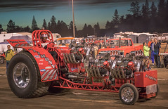Power Puller (snaphappyd) Tags: tractor pull alimoney fair night power modified entertainment noisey red sundown grants pass oregon
